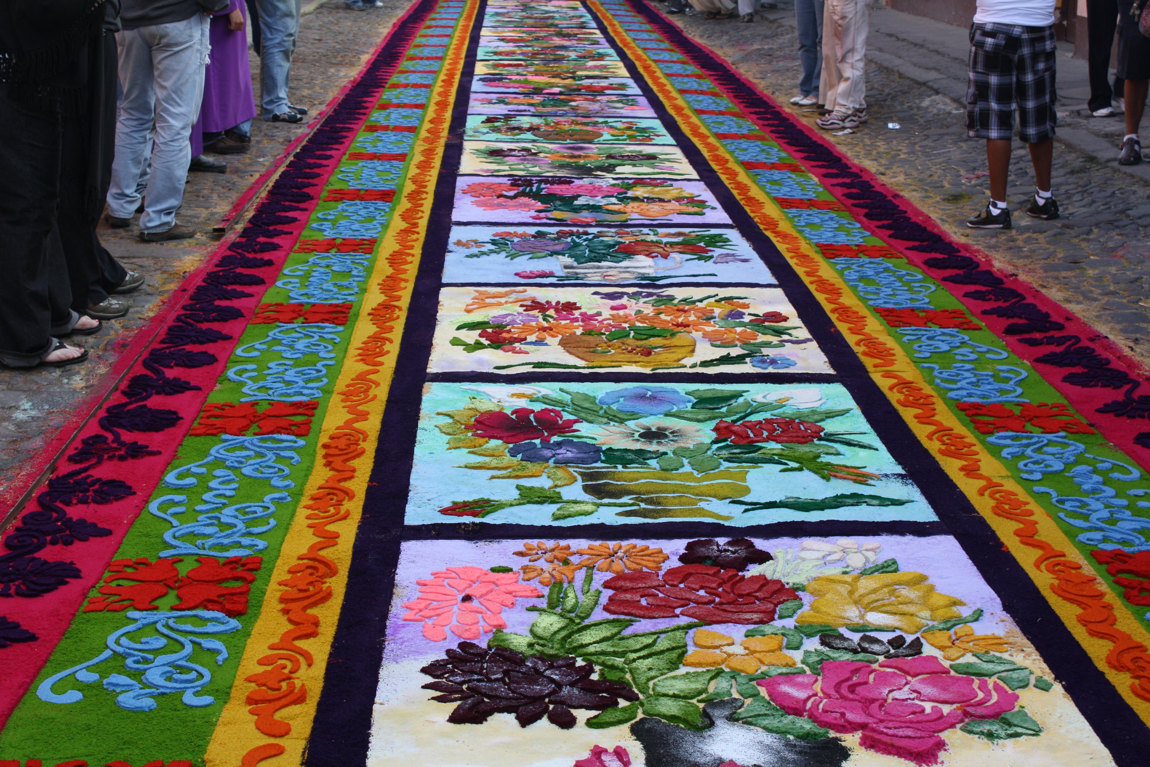 Los tapetes de aserr n de semana santa en m xico coyotitos - Dibujos para alfombras ...