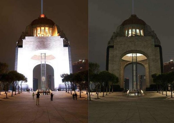 monumento revolucion hora del planeta