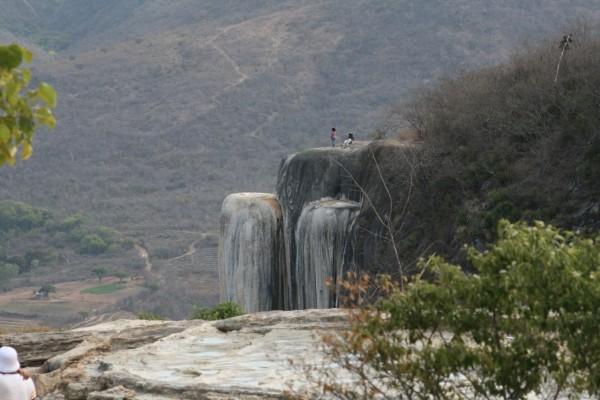 panoramica cascada petrificada oaxaca mexico