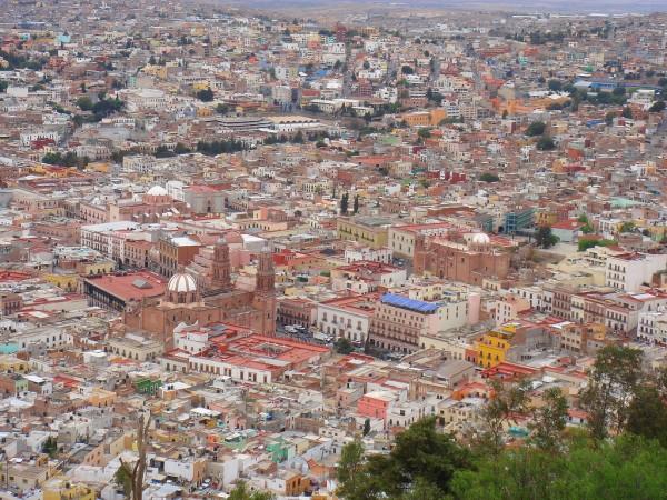 Centro de Zacatecas visto desde el Cerro de la Bufa