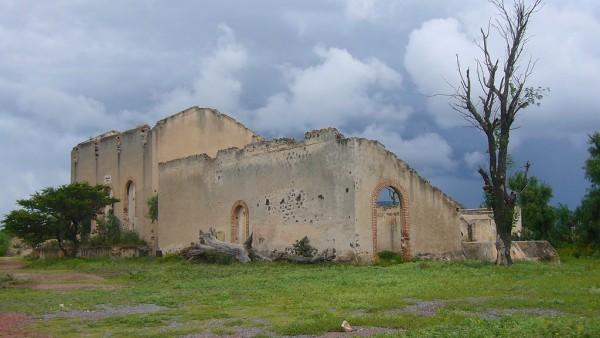 edificio mineral de pozos guanajuato pueblo magico