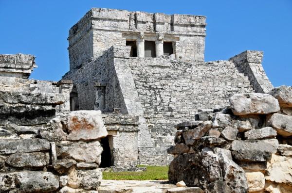 fachada castillo ruinas mayas de tulum
