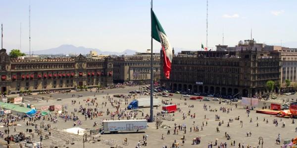 panoramica zocalo gran hotel ciudad de mexico