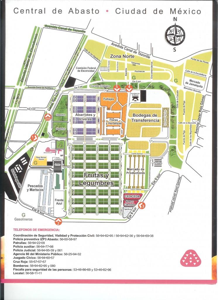 plano mapa central abasto ciudad mexico df