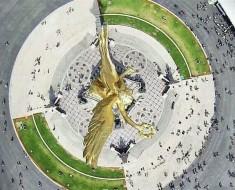 angel de la independencia paseo reforma mexico df