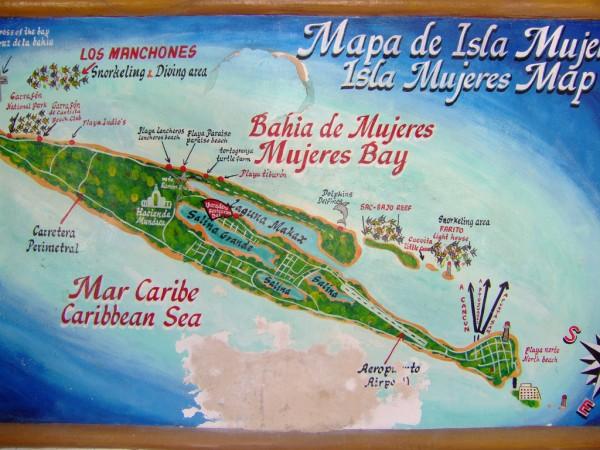 mapa islas mujeres quintana roo