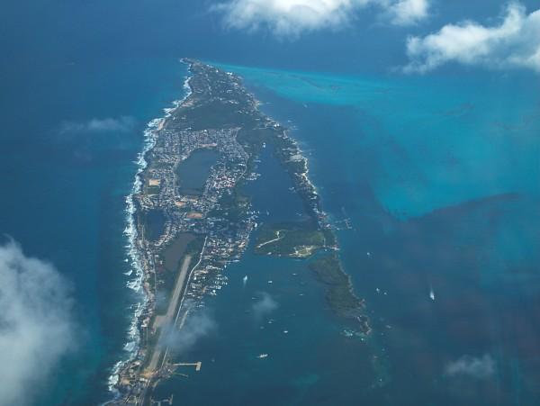 vista aérea islas mujeres quintana roo