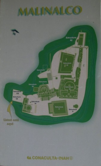 plano malinalco zona arqueologica