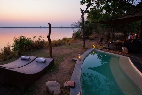 piscina Chongwe River House en Zambia, Africa