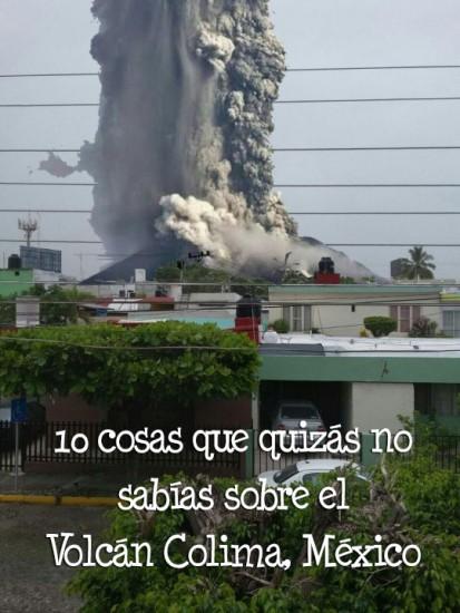 volcan de colima en erupcion