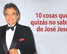 10 cosas que quizás no sabías de José José