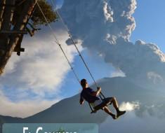 El Columpio del Fin del Mundo en la Casa del Árbol en Baños Ecuador