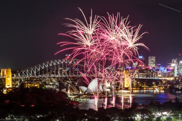 fuegos artificiales sydney australia