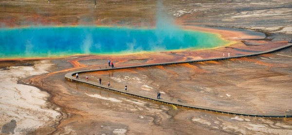 grand prismatic spring lago arcoiris
