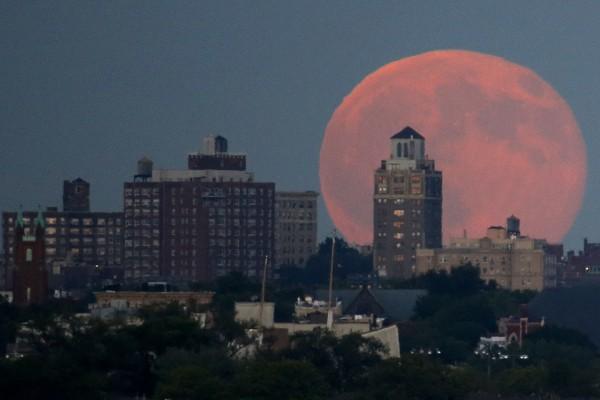 New Jersey fotos de todo el mundo de la luna azul