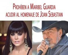 Maribel Guardia tiene prohibido acudir al homenaje de Joan Sebastian