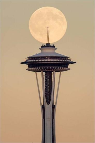 seattle fotos de todo el mundo de la luna azul
