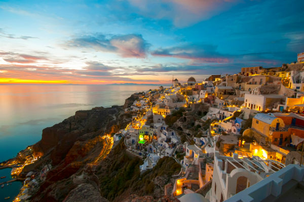 atardecer santorini grecia