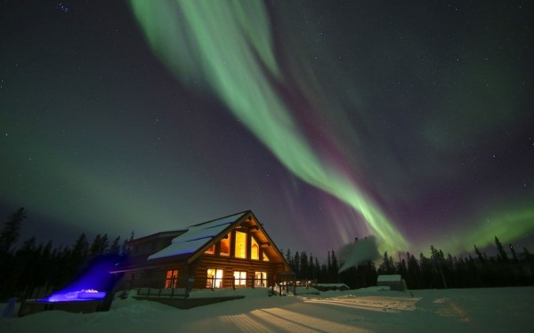 auroras boreales yukon canada