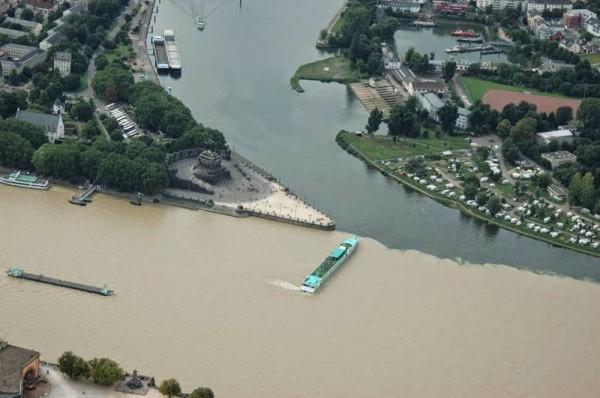 Confluencia de los Ríos Mosela y el Rin (Koblenz, Alemania)