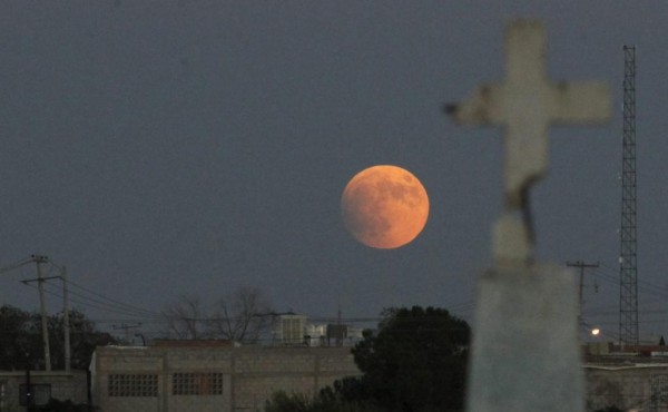 ciudad juarez mexico fotos eclipse total de super luna 2015