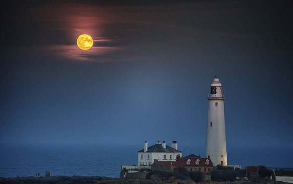 st mary inglaterra fotos eclipse total de super luna 2015