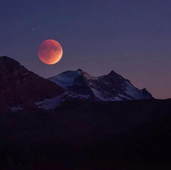 parque nacional de los glaciares estados unidos fotos eclipse total de super luna 2015
