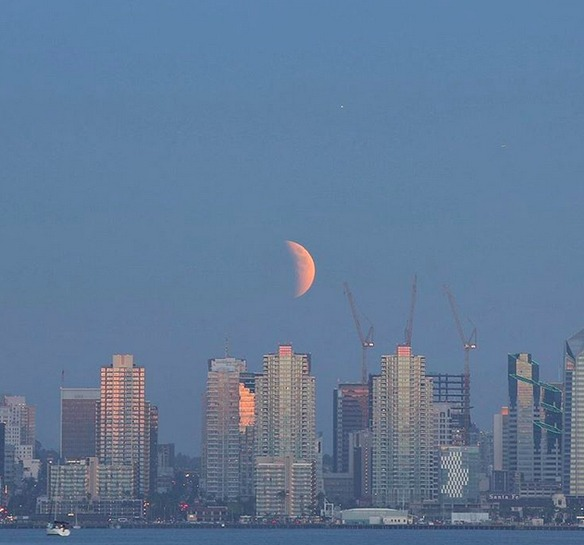 san diego estados unidos fotos eclipse total de super luna 2015