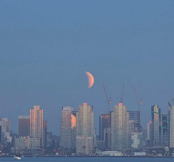 san diego estados unidos fotos eclipse total de super luna 2015