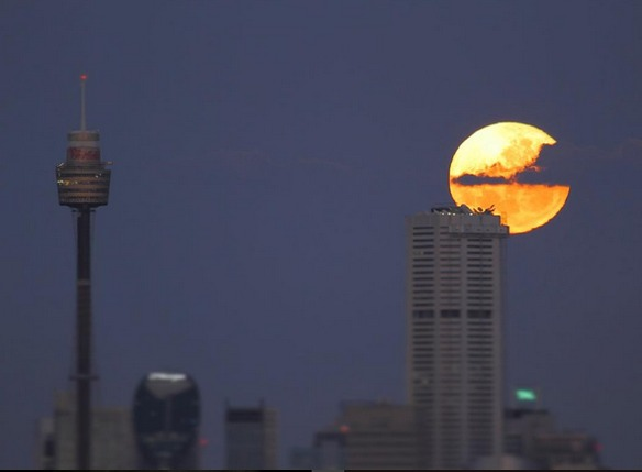 sydney australia fotos eclipse total de super luna 2015