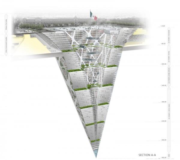 esquema earthscraper rascacielos zocalo mexico