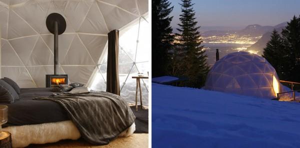 habitacion Whitepod Eco-Luxury Hotel, Suiza