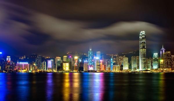 hong kong imagenes de noche