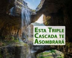 La triple cascada de Baatara en Líbano es única en el mundo