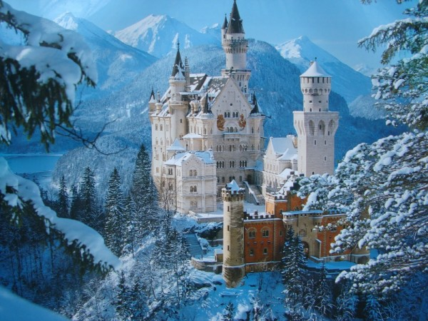 castillo de neuschwanstein nevado