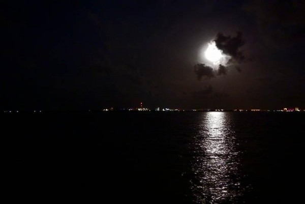 cancun mexico superluna de sangre eclipse bloodmoon