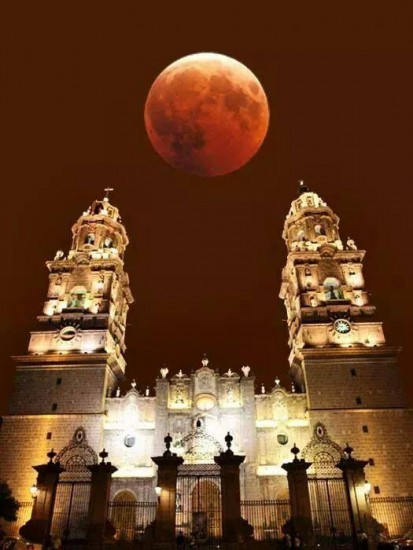 morelia mexico superluna de sangre eclipse bloodmoon