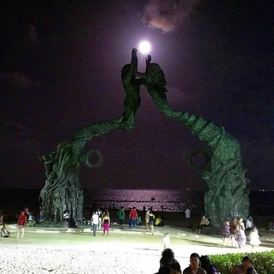 playa del carmen superluna de sangre eclipse bloodmoon