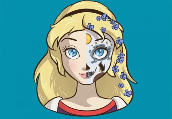 Las princesas de Disney caracterizadas como Catrinas