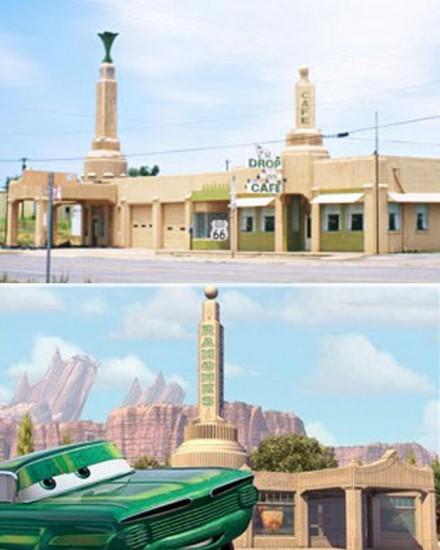 U-Drop Inn en Shamrock, Texas / Disney: Body Shop de Ramone en Cars