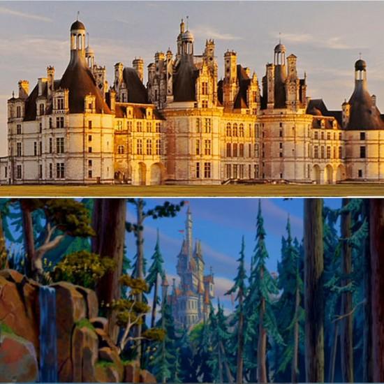 Chateau du Chambord, Francia / Disney: El castillo de la Bestia en La Bella y la Bestia
