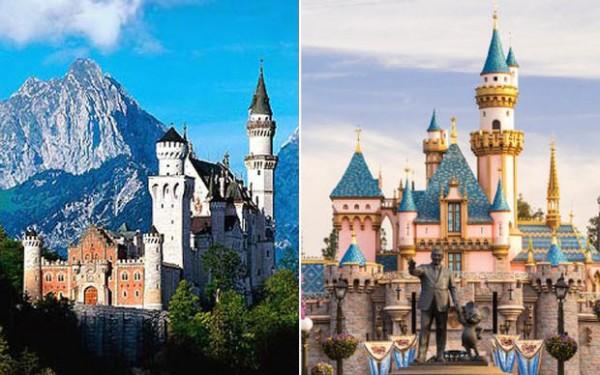 Castillo de Neuschwanstein, Alemania / Disney: El castillo de la bella durmiente, Disneyland