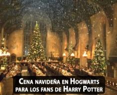 Cena navideña en el Gran Comedor de Hogwarts para los fans de Harry Potter