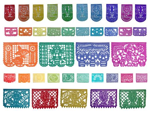 ejemplos vector png papel picado mexicano