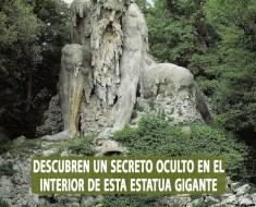 Escultura gigante en Villa de Pratolino en Toscana guarda un secreto en su interior