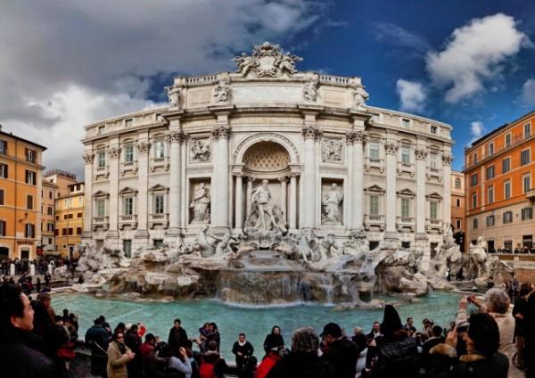 La Fontana de Trevi en Roma