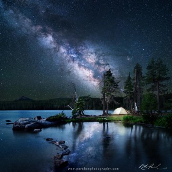 fotos de paisajes naturales nocturnos via lactea