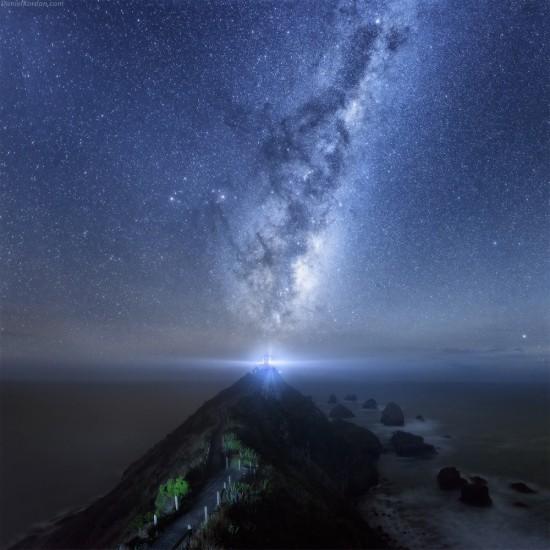 fotos de paisajes naturales nocturnos en el mar