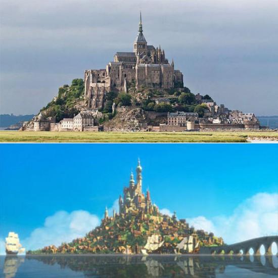 Mont Saint-Michel en Normandía, Francia / Disney: El castillo de Enredados (Tangled)
