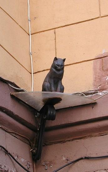 Monumento al gato Eliseo en San Petersburgo